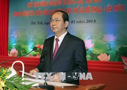 国家主席陈大光出席模范基层工会主席表彰大会 hinh anh 3