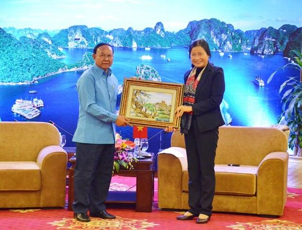 广宁省与老挝华潘省加强合作 hinh anh 2