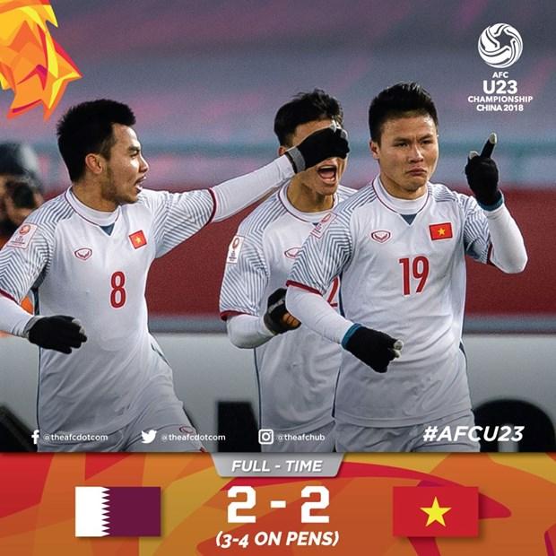 越南U23足球队震撼国际媒体 hinh anh 1
