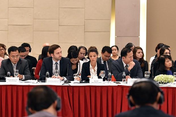 行政手续改革咨询委员会与欧洲企业进行政策对话 hinh anh 2