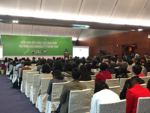 2018年越南可持续发展论坛:着力实现六大核心措施 实现繁荣增长 hinh anh 1