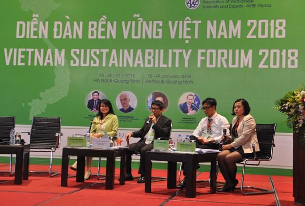 2018年越南可持续发展论坛:着力实现六大核心措施 实现繁荣增长 hinh anh 2