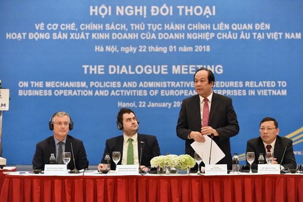 行政手续改革咨询委员会与欧洲企业进行政策对话 hinh anh 1