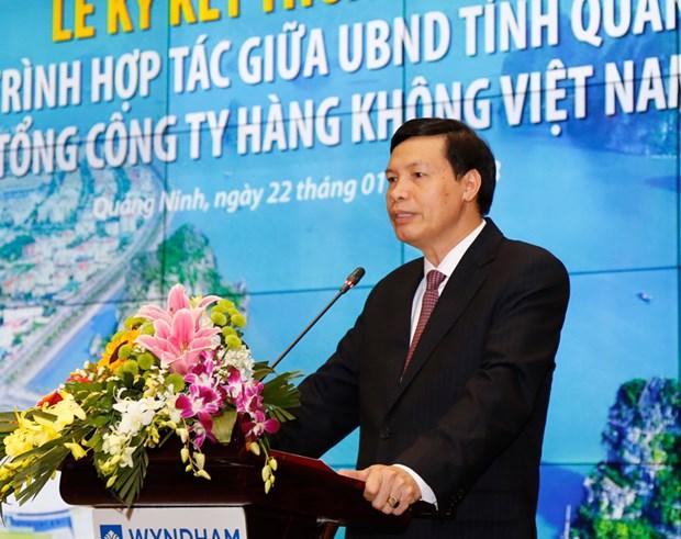 广宁省与越南航空总公司签署战略合作协议 hinh anh 1