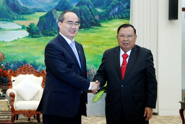进一步加强胡志明市与老挝各地方的合作关系 hinh anh 1