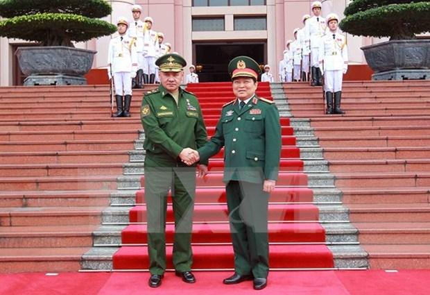 俄罗斯联邦国防部长谢尔盖·绍伊古对越南进行正式访问 hinh anh 1