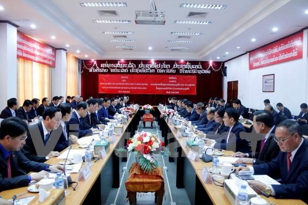 越南胡志明市与老挝万象加强合作 hinh anh 1