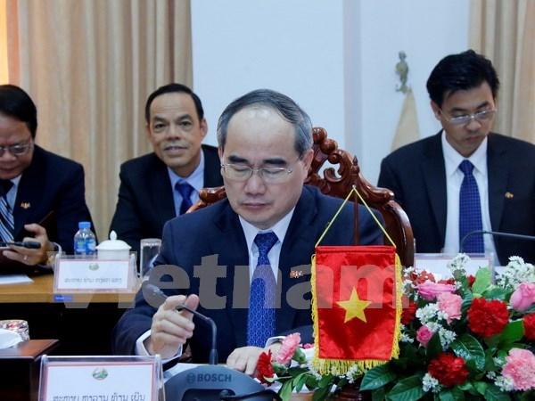 越南胡志明市与老挝万象加强合作 hinh anh 2