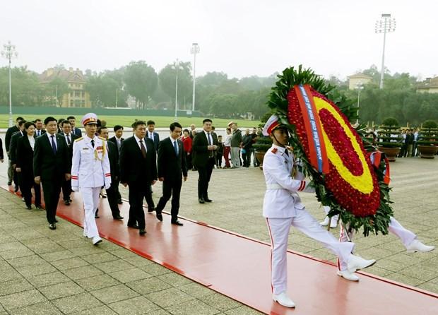 蒙古国国家大呼拉尔主席圆满结束对越南进行的正式访问 hinh anh 2