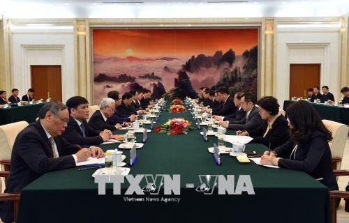 越南共产党代表团对中国进行工作访问 hinh anh 2
