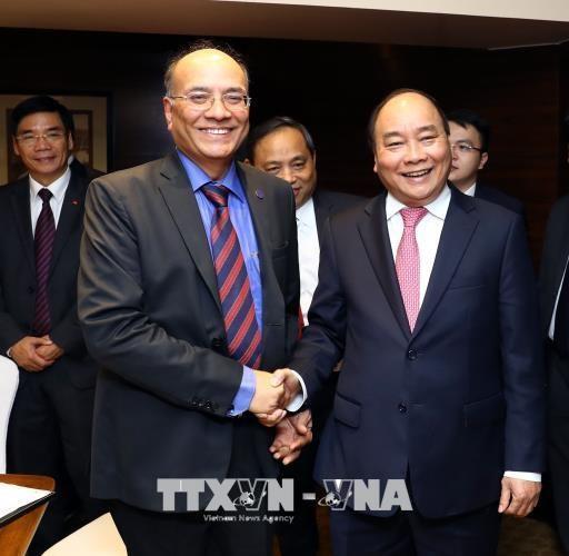 政府总理阮春福会见印度一流企业和集团领导 hinh anh 1