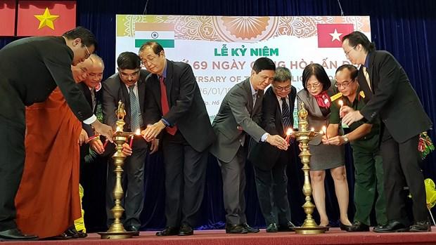 印度在胡志明市举行国庆69周年纪念典礼 hinh anh 2