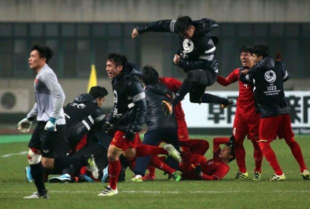 中国媒体盛赞越南U23球队在亚锦赛的战绩 hinh anh 1
