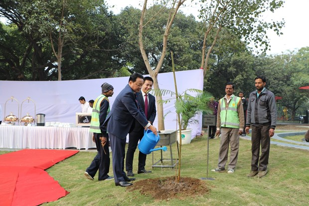 印度-东盟友谊公园正式开园 hinh anh 1