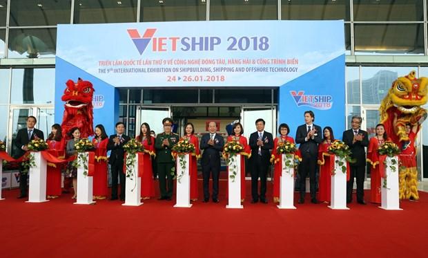 2018年第九届越南国际航海运输及造船工业展览会正式开幕 hinh anh 1