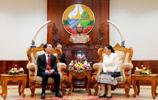 老挝国会主席高度评价老挝国会大厦工程项目施工前期筹建准备工作 hinh anh 1