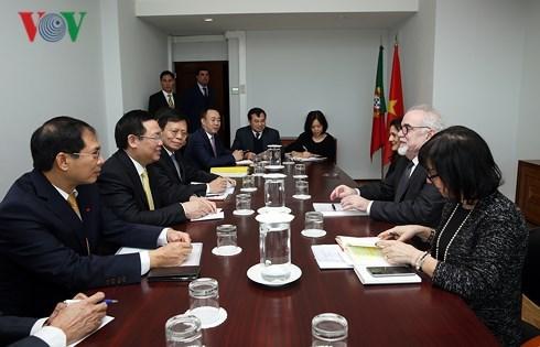 越南政府副总理王廷惠访问葡萄牙 hinh anh 2