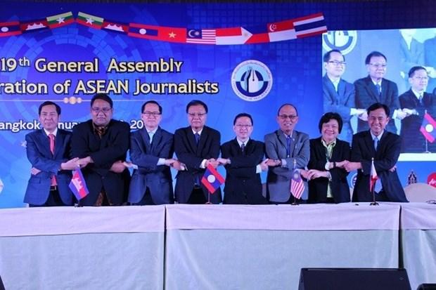 东盟记者联合会第19次大会在曼谷举行 hinh anh 1