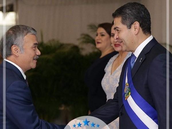 洪都拉斯总统希望推动与越南的关系 hinh anh 1