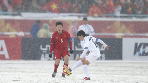 2018年U23亚洲杯:国际媒体对越南U23足球队的勇气表示羡慕 hinh anh 1