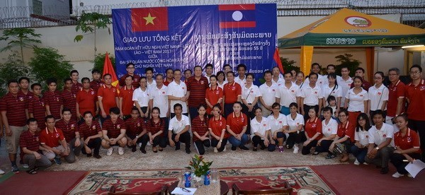 2017年越老友好团结年总结交流会在柬埔寨举行 hinh anh 1