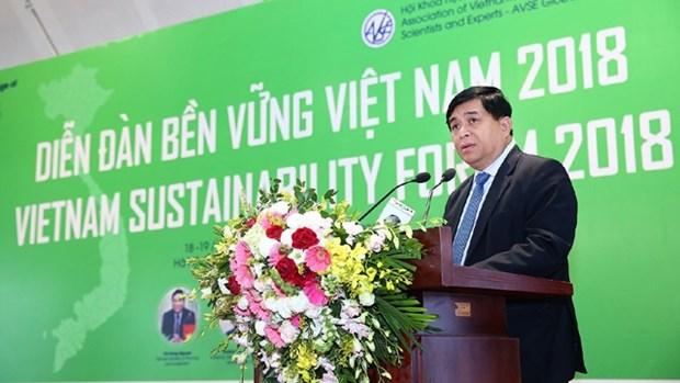 2018年越南可持续发展目标:让经济结构调整更加鲜明 hinh anh 1