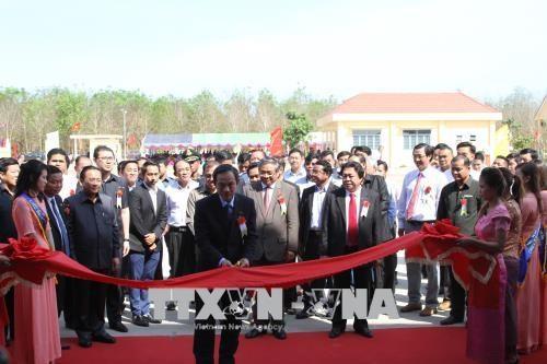 在柬越南橡胶制品加工厂正式揭牌投产 hinh anh 1