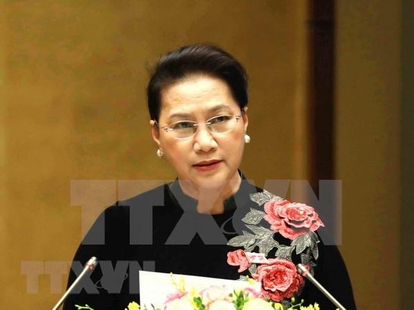 国会主席阮氏金银:越南国会将继续秉着创新、为民精神完成各项目标任务 hinh anh 1