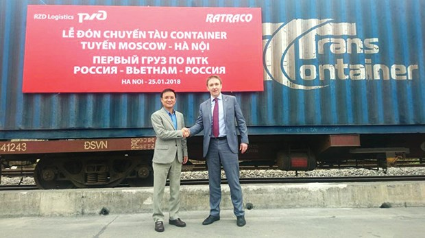 越南—俄罗斯首条集装箱专列正式开行 hinh anh 1