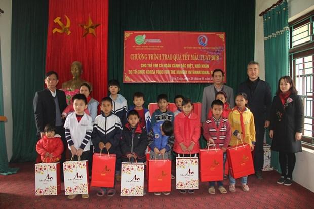 韩国国际饥饿对策机构向贫困户和橙毒剂受害者赠送春节慰问品 hinh anh 1