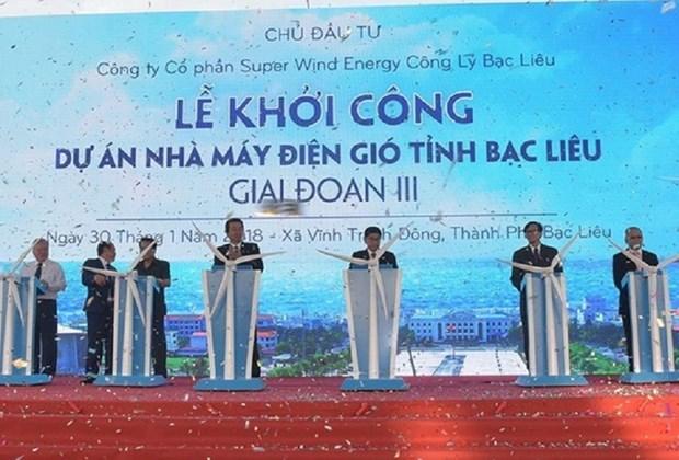 薄辽省和朔庄省风力发电厂正式动工兴建 hinh anh 1