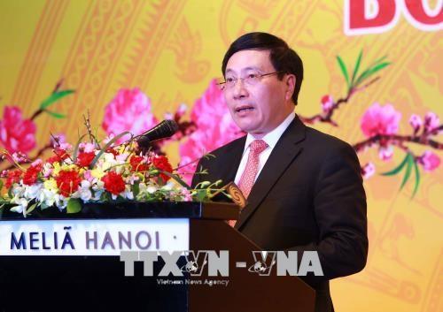 越南政府副总理范平明会见各国驻越外交使团代表 hinh anh 1