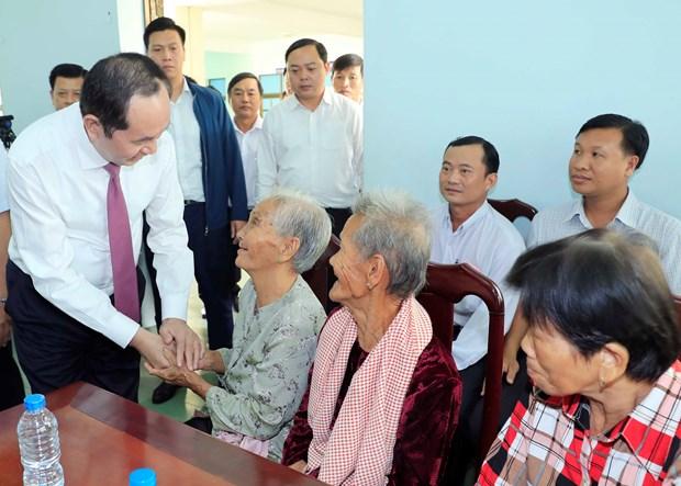 陈大光主席:进一步关心民众生活 为困难群众献上爱心 hinh anh 2