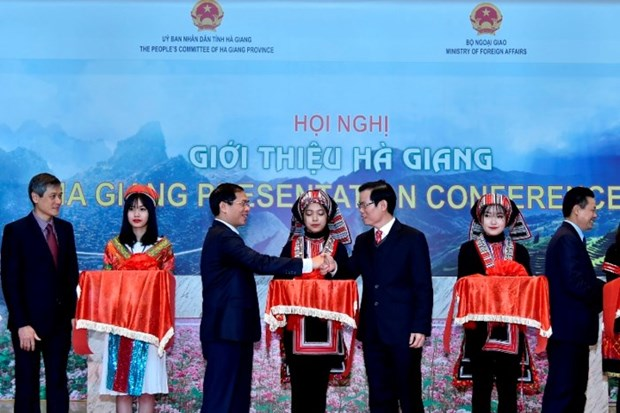 河江推介会在河内举行 向国际朋友推介河江省的潜力和优势 hinh anh 1