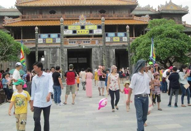 2018年1月份顺化古都遗迹区接待国际游客同比增长30% hinh anh 1