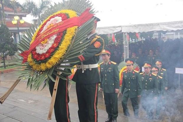 广治省为40位烈士举行追悼会及安葬仪式 hinh anh 2