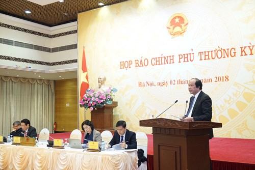 越南政府举行例行记者会 hinh anh 1
