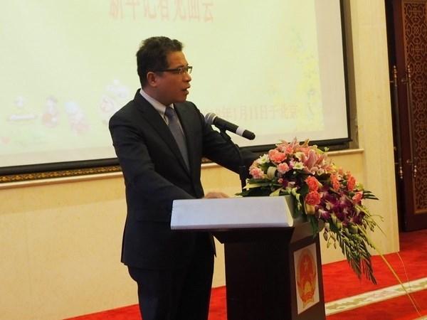 越南驻中国大使馆举行迎新春活动 hinh anh 1