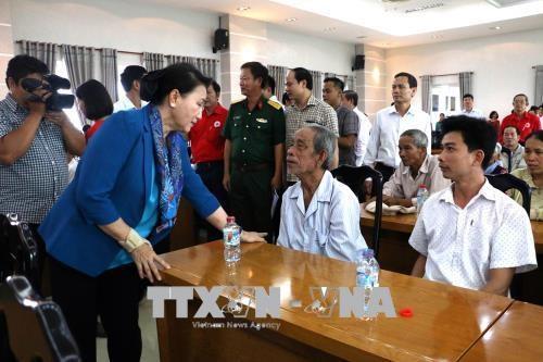 阮氏金银等党和国家领导人分赴各地开展新春走访慰问活动 hinh anh 3
