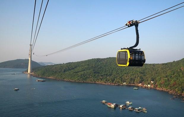 坚江省:世界最长的游览缆车投入运营 hinh anh 2