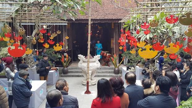 河内传统春节空间吸引外国游客的眼球 hinh anh 1