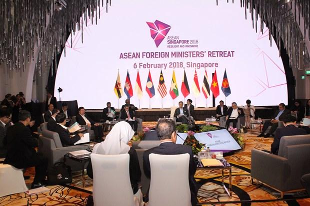 越南政府副总理兼外长范平明出席东盟外长非正式会议 hinh anh 2