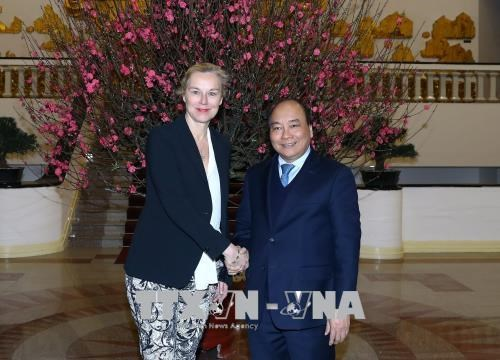 越南政府总理阮春福会见荷兰外贸发展合作大臣西格里德·卡格 hinh anh 1