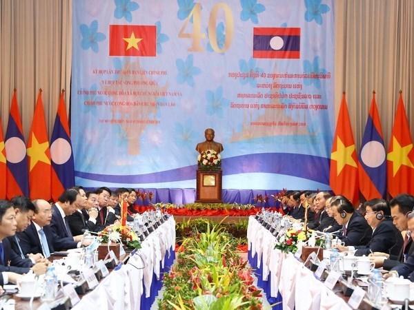 老挝媒体高度评价越老政府间委员会第40次会议的成果 hinh anh 1
