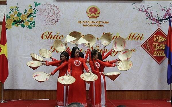 2018年迎春招待会在柬隆重举行 hinh anh 1