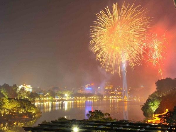 全国各地将绽放烟花迎接新年 hinh anh 1