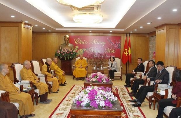越共中央民运部长张氏梅:越南佛教与越南民族并行 hinh anh 1