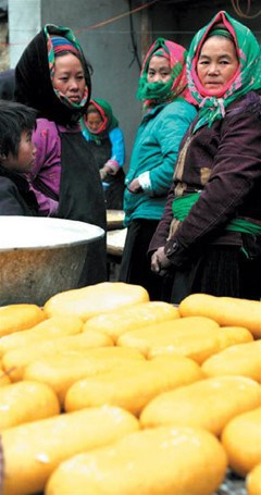 赫蒙族的迎新饮食风俗 hinh anh 1