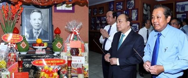 政府总理阮春福敬香缅怀原国家和政府领导人 hinh anh 1