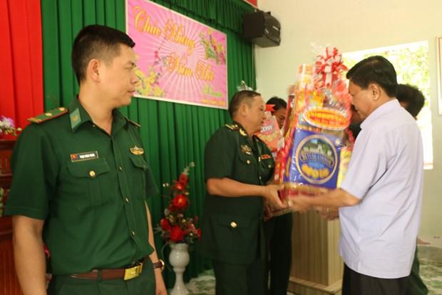 越南各地举行春节见面会 向武装力量和越南侨胞拜年 hinh anh 1